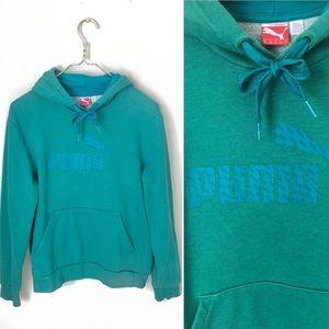 Puma Green Pullover Women's Hoodie Sweater.